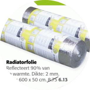Radiatorfolie voor minder dan een tientje