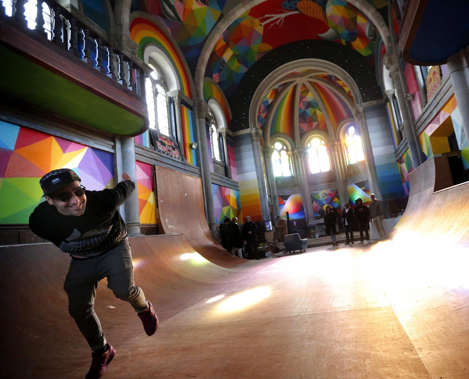 Leegstaande kerk? Skatebaan!