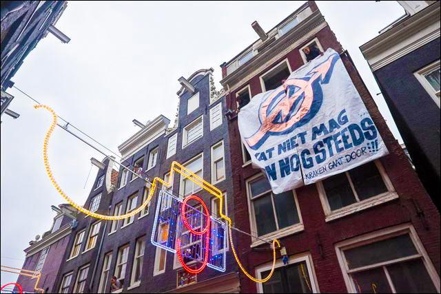 Krakers bezetten pand in Amsterdam