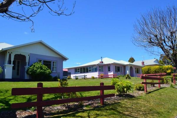Leegstaande dorpje Tarraleah Tasmanië
