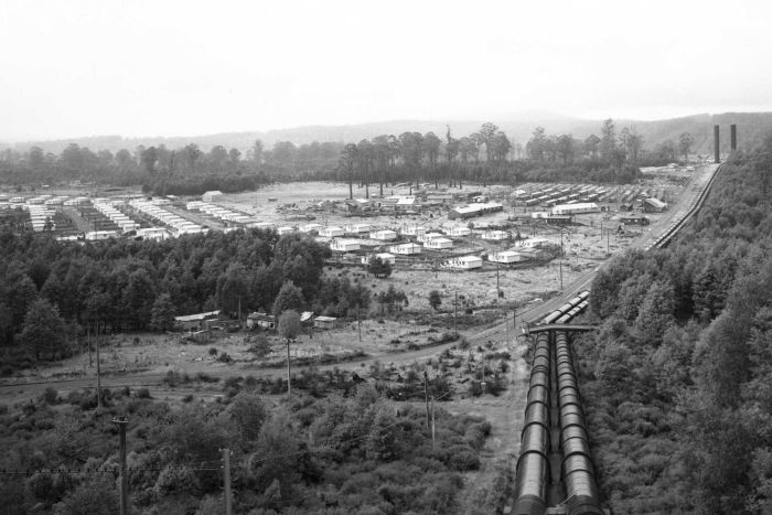 Tarraleah in 1950 - Leegstaand dorp