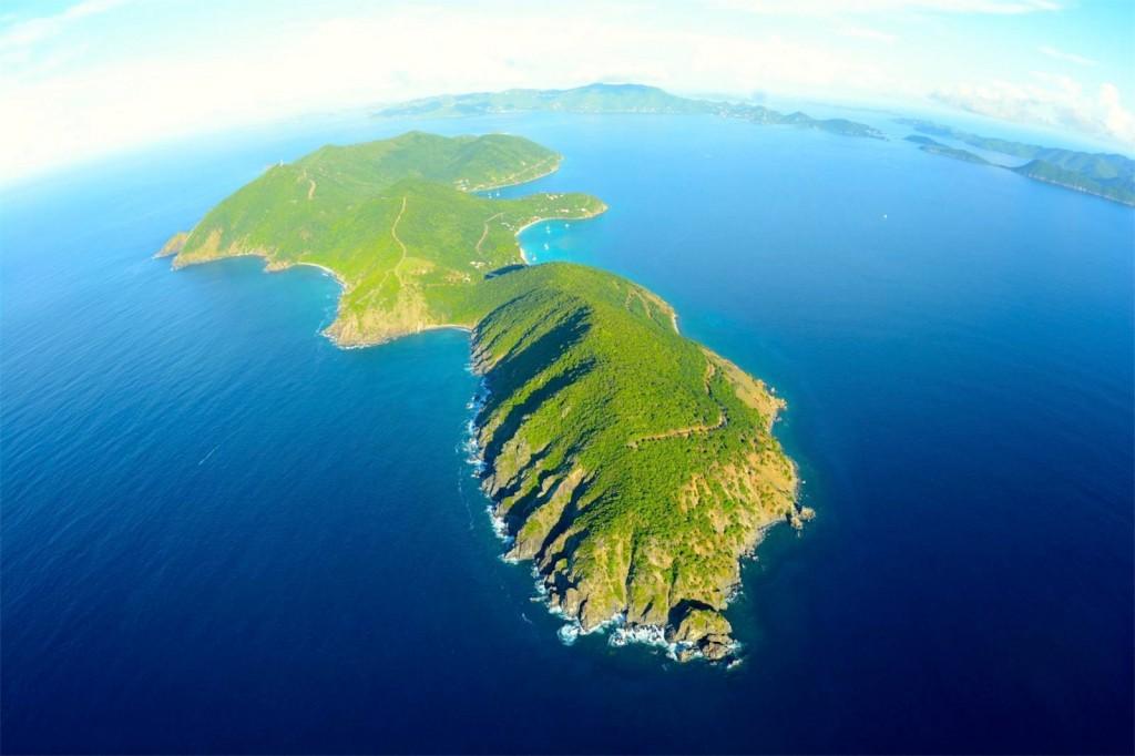 Leegstaand eiland Jost Van Dyke Britse Maagdeneilanden