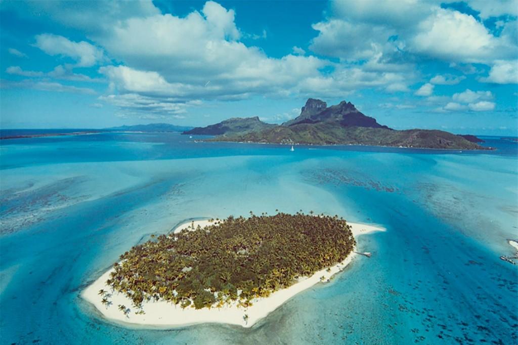 Leegstaand eiland Motu-Tane-in-Bora-Bora