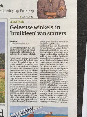 Dagblad De Limburger - Interveste Bruikleenwinkel