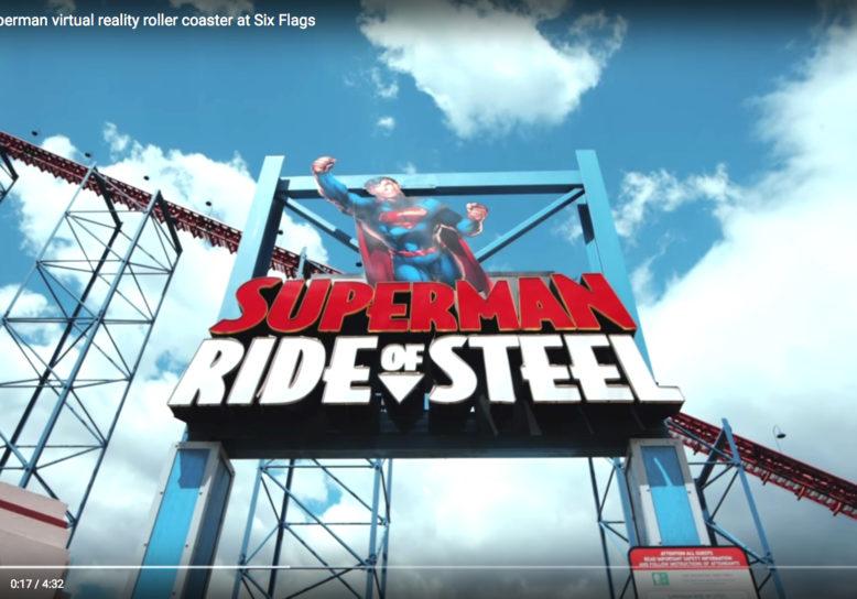 Superman's virtual reality roller coaster