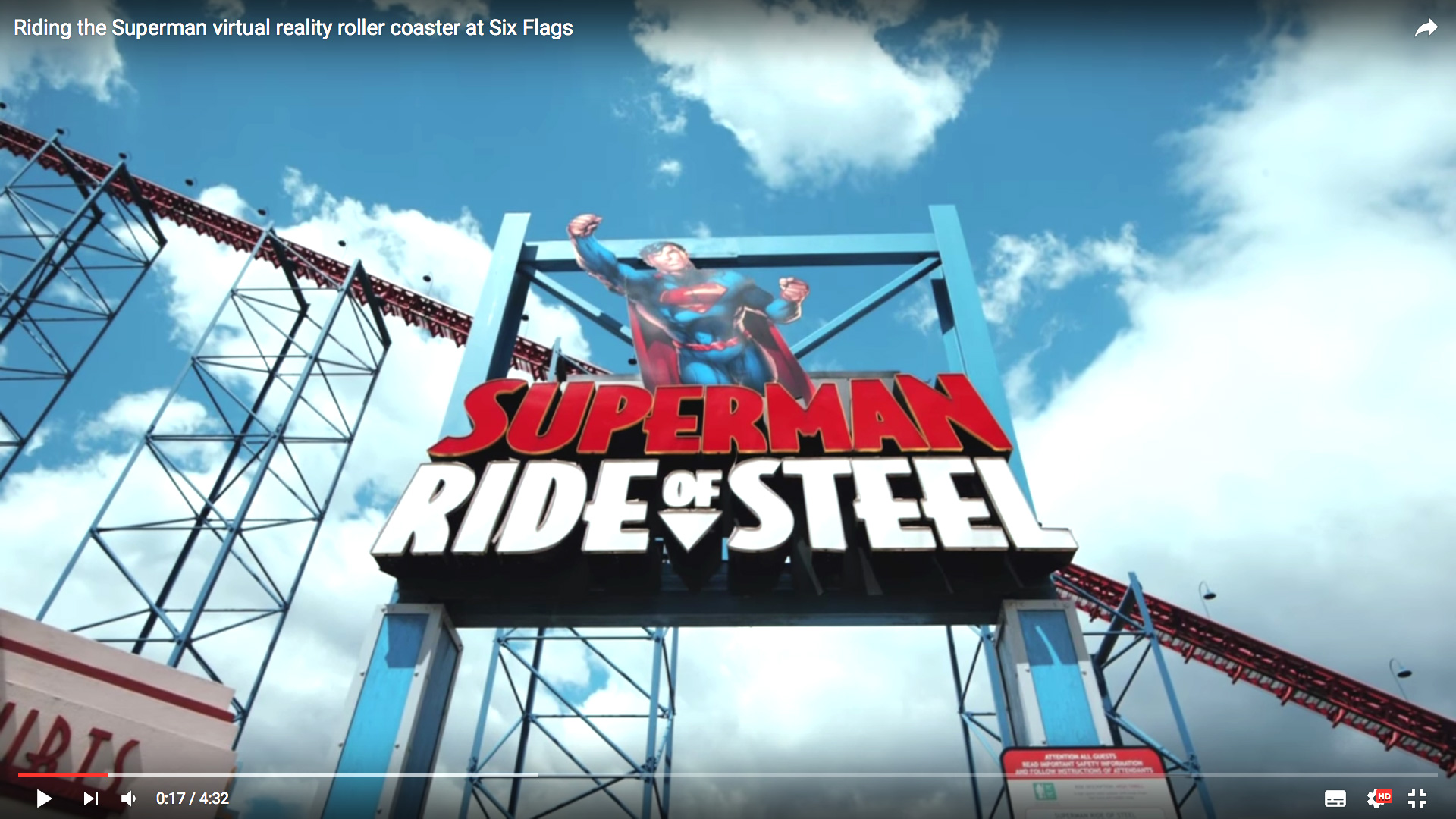 Superman's virtual reality roller coaster