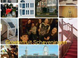 Antikraak ansichtkaart bewoners Scheveningen