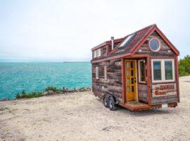 Tiny House met schuin dak