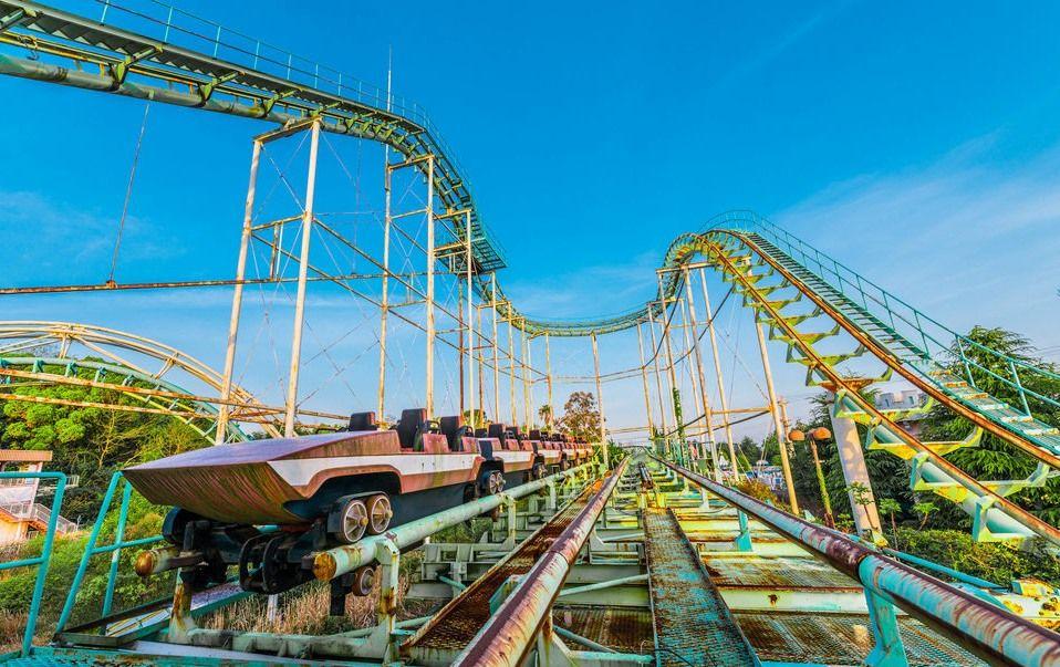 Verlaten achtbaan Nara Dreamland