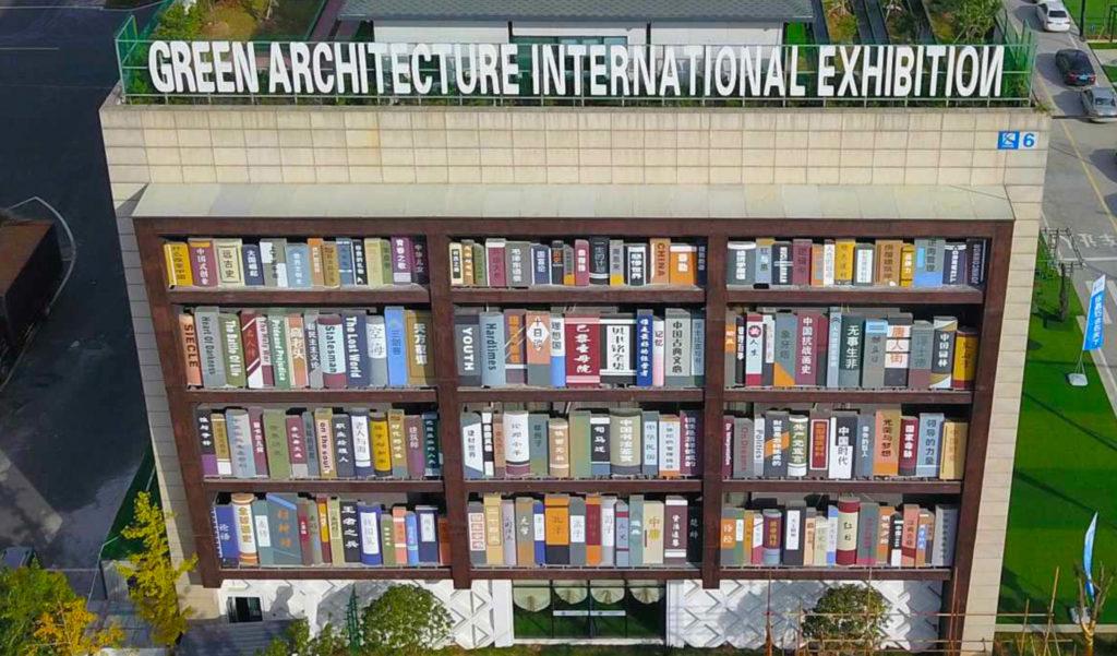 Zhejiang gebouw boekenkast