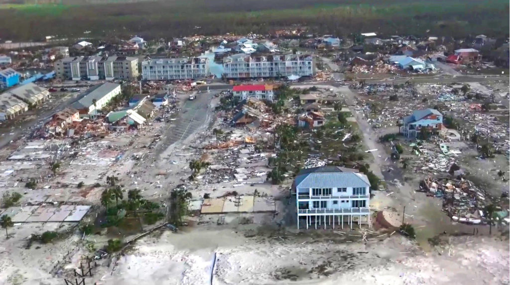 Sand Palace Mexico Beach orkaan