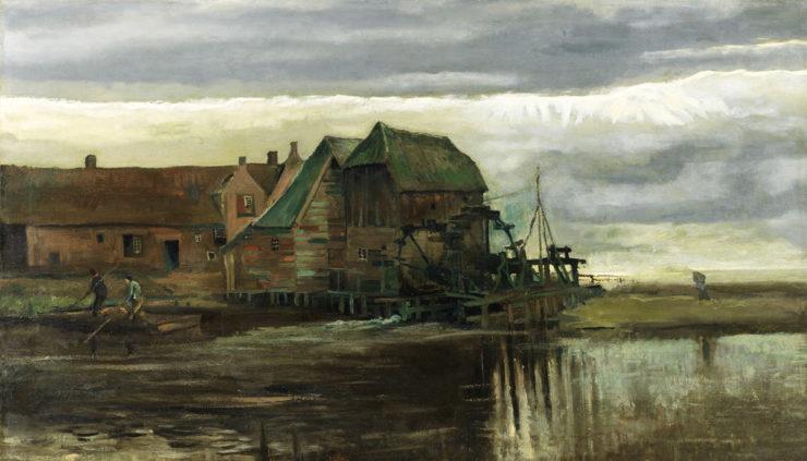 Genneper Watermolen Eindhoven door Van Gogh