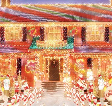 5 geweldige kerstprojecties op huizen
