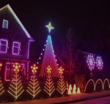 Sensationele lichtshow in en op huis Waalre
