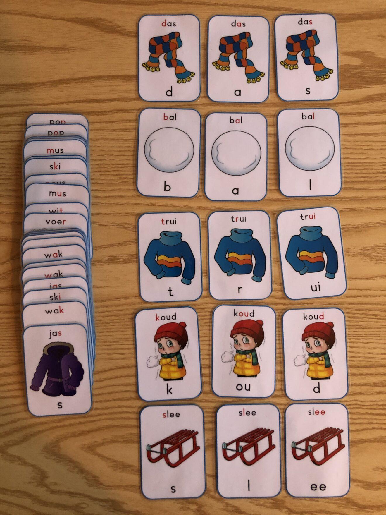 spelletje met kaartjes